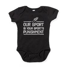 Running your sports punishment Baby Bodysuit