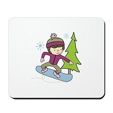 Snowboard Girl Mousepad
