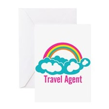 Rainbow Cloud Travel Agent Greeting Card