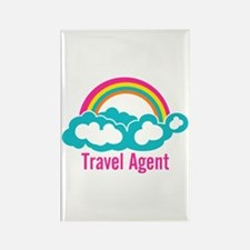 Rainbow Cloud Travel Agent Rectangle Magnet