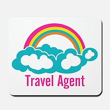 Rainbow Cloud Travel Agent Mousepad