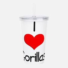 i-heart-gorillas.png Acrylic Double-wall Tumbler