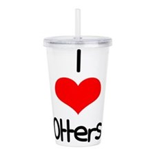 i-heart-otters.png Acrylic Double-wall Tumbler