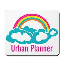 Urban Planner Rainbow Cloud Mousepad