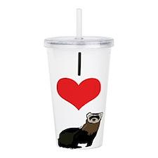 heart-ferrets.png Acrylic Double-wall Tumbler