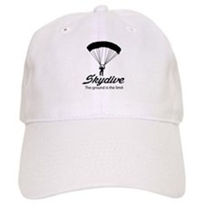 Skydive the ground is the limit Baseball Baseball Cap