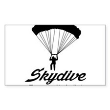 Skydive the ground is the limit Bumper Stickers