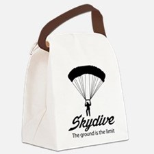 Skydive the ground is the limit Canvas Lunch Bag