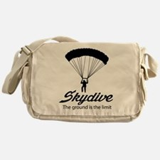 Skydive the ground is the limit Messenger Bag