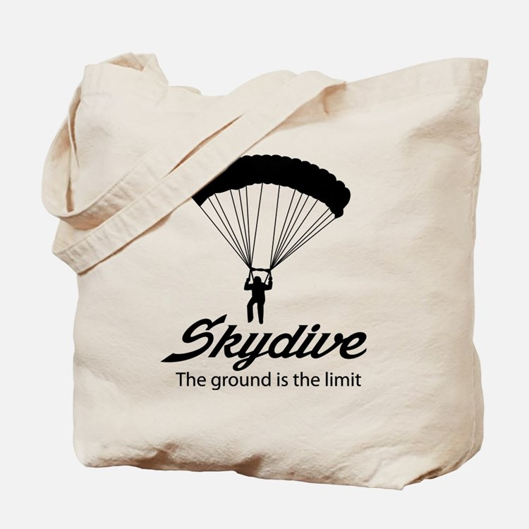 Skydive the ground is the limit Tote Bag