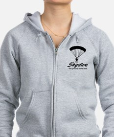 Skydive the ground is the limit Zip Hoodie