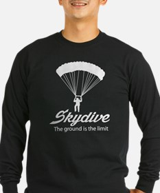 Skydive the ground is the limit Long Sleeve T-Shir
