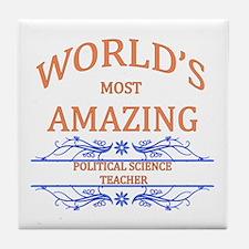Political Science Teacher Tile Coaster