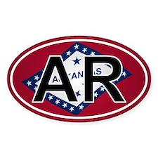 Ar - Arkansas Oval Car Sticker Flag Design