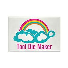 Raibow Cloud Tool Die Maker Rectangle Magnet