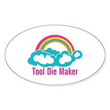 Raibow Cloud Tool Die Maker Decal