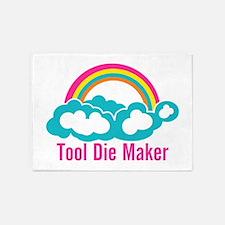 Raibow Cloud Tool Die Maker 5'x7'Area Rug