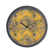 Gold floral Wall Clock