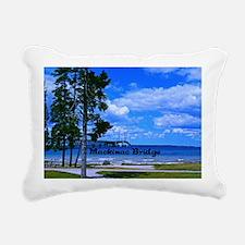 Mackinac Bridge Rectangular Canvas Pillow