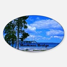 Mackinac Bridge Sticker (Oval)