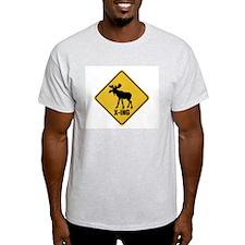 Swedish Moose Ash Grey T-Shirt