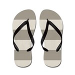 Tan Stripes Flip Flops