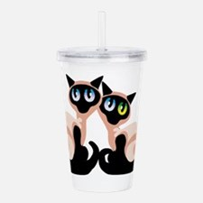 siamese-kittens.png Acrylic Double-wall Tumbler