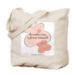 Mother's Love Treasured Pink Butterfly Tote Bag