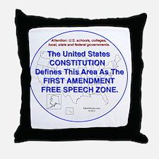 1stAmendmentArea Throw Pillow