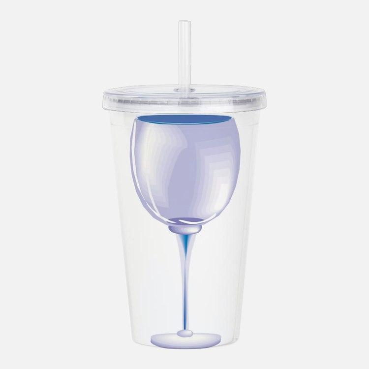 wine, empty glass.jpg Acrylic Double-wall Tumbler