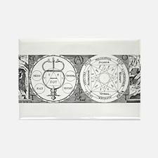 Hermetic Magic Diagram Rectangle Magnet