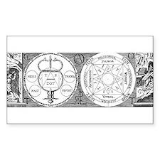 Hermetic Magic Diagram Rectangle Decal
