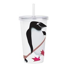 hockey-penguin.png Acrylic Double-wall Tumbler