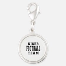 Niger Football Team Silver Round Charm