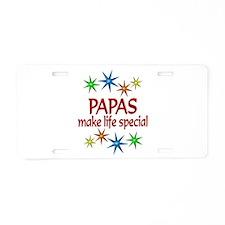 Special Papa Aluminum License Plate