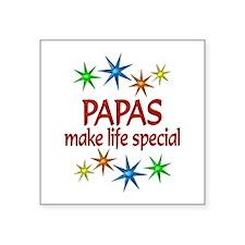 "Special Papa Square Sticker 3"" x 3"""