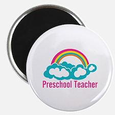 "Preschool Teacher Rainbow C 2.25"" Magnet (10 pack)"