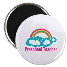 "Preschool Teacher Rainbow 2.25"" Magnet (100 pack)"