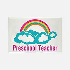 Preschool Teacher Rainb Rectangle Magnet (10 pack)