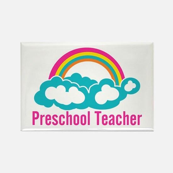 Preschool Teacher Rain Rectangle Magnet (100 pack)