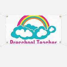 Preschool Teacher Rainbow Cloud Banner