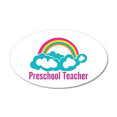 Preschool Teacher Rainbow Cl Wall Decal