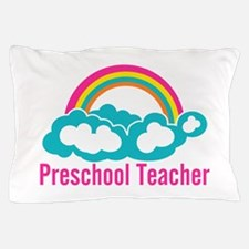 Preschool Teacher Rainbow Cloud Pillow Case