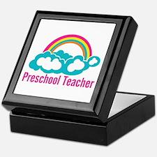 Preschool Teacher Rainbow Cloud Keepsake Box