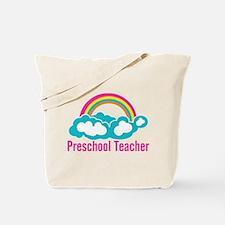 Preschool Teacher Rainbow Cloud Tote Bag