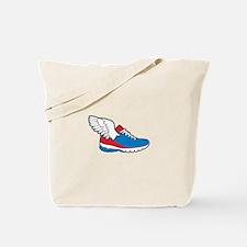 Flying Shoe Tote Bag