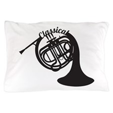 Classical French Horn Pillow Case