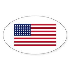 48 Star US Flag Oval Decal