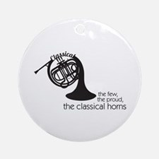The Classical Horns Ornament (Round)