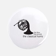 """The Classical Horns 3.5"""" Button (100 pack)"""